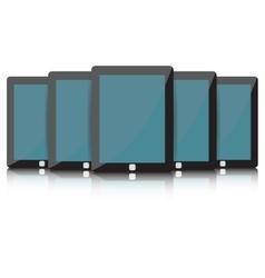 Black Tablet set vector image vector image
