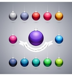 Colorful Shiny Christmas Balls vector image