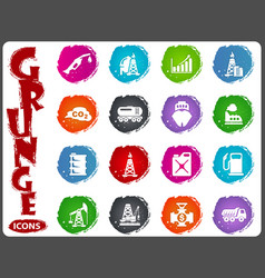 extraction of oil icons set vector image