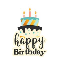 happy birthday cake white background image vector image