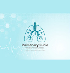 lungs for pulmonary clinic vector image