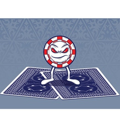 Poker Face vector image vector image