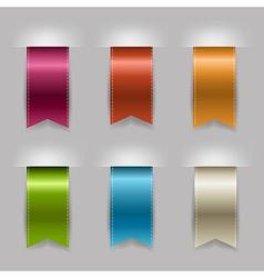 Realistic Ribbon Set vector image