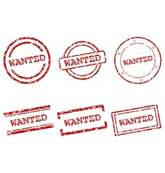 Wanted stamps vector image vector image