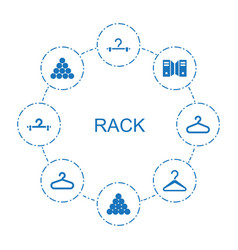 8 rack icons vector