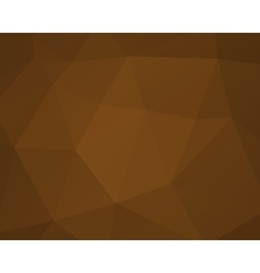 Abstract brown triangle background low poly vector image