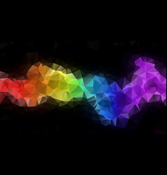 Abstract irregular polygonal backdrop rainbow vector