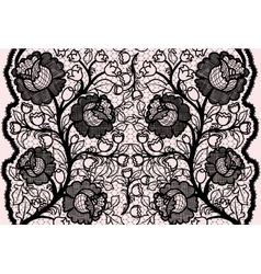 Abstract seamless black lace ribbon with feminine vector