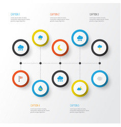 Air flat icons set collection of the flash vector