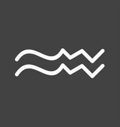 Aquarius sign vector