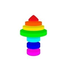 Arrow up in pyramid format vector