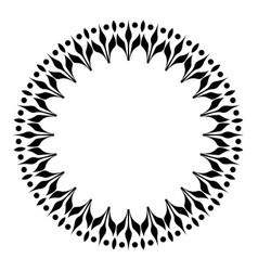 Artistic black and white circle frame vector
