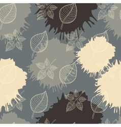 Autumn seamless pattern leaf vector