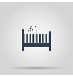 Baby cot and carousel Icon vector