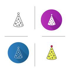birthday cap icon vector image