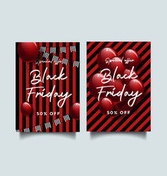 black friday a4 flyer template vector image