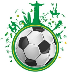 Brazil symbol with soccer ball vector