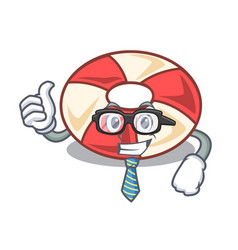 Businessman swim tube character cartoon vector