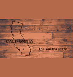 california map brand vector image