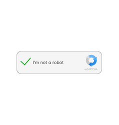 Captcha i am not a robot vector