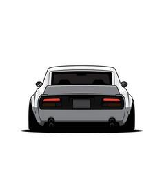 Cartoon japan tuned car isolated vector