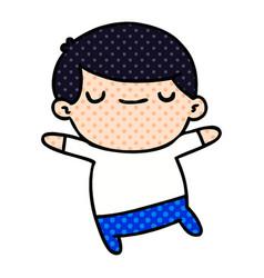 Cartoon of kawaii cute older man vector
