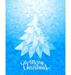 Christmas tree and Merry Christmas Lettering on vector image
