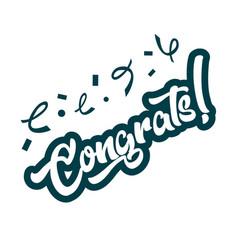 congratulations greeting card vector image