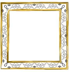 Decorative vintage frame gold jewish star vector