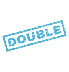 Double rubber stamp vector