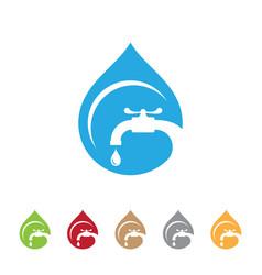 droplet plumbing vector image