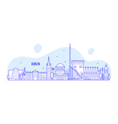 Dublin skyline ireland buildings city vector