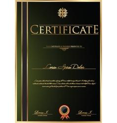 Elegant green Certificate template vector image