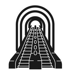 Escalator in the subway icon simple style vector