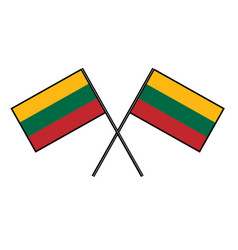 Flag of lithuania stylization of national banner vector
