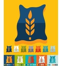 Flat design bag of grain vector