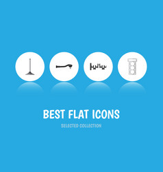 Flat icon auto set of input technology steels vector