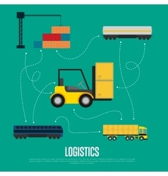 Global logistics and transportation banner vector image
