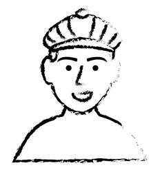 Golf player shirtless avatar character vector
