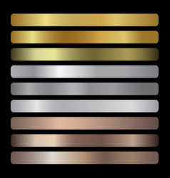 gradients collection gold golden gold vector image