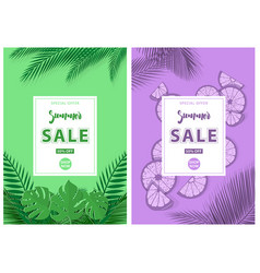 green and purple summer sale background vector image