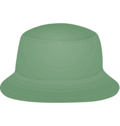 green fisherman hat vector image
