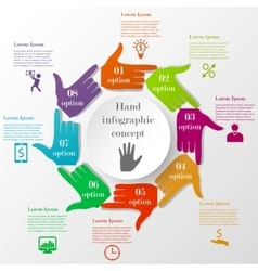 hand-style infographic concept vector image