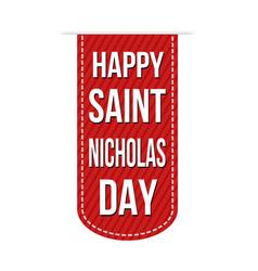 Happy saint nicholas day banner design vector