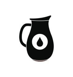 Honey crock black simple icon vector