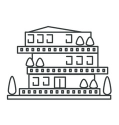 house isolated icon residential apartment vector image