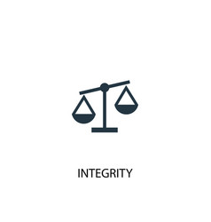Integrity icon simple element vector
