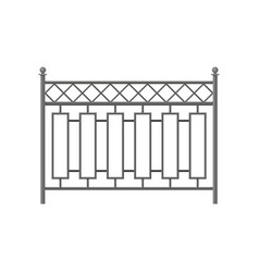 iron fence protective barrier for house garden vector image