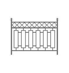 Iron fence protective barrier for house garden vector