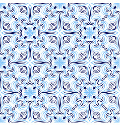Italian tile pattern ethnic folk ornament vector